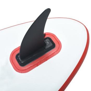 vidaXL Središnja peraja za dasku za SUP 18,3 x 21,2 cm plastična crna