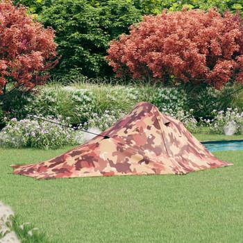 vidaXL Šator za kampiranje 317 x 240 x 100 cm maskirne boje