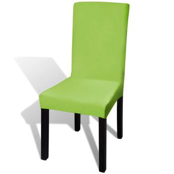 vidaXL Rastezljive navlake za stolice 4 kom Zelena boja