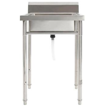 vidaXL Kuhinjski sudoper s 1 kadicom od nehrđajućeg čelika