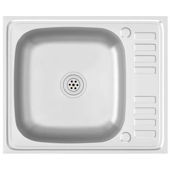 vidaXL Kuhinjski sudoper srebrni 500x600x155 mm od nehrđajućeg čelika