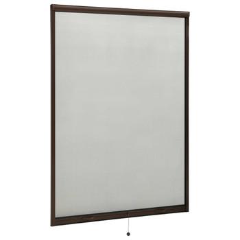vidaXL Zaslon protiv insekata za prozore smeđi 120 x 170 cm