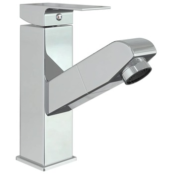 vidaXL Slavina za umivaonik s funkcijom izvlačenja krom 157 x 172 mm
