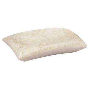 vidaXL Umivaonik krem 50 x 35 x 10 cm mramorni