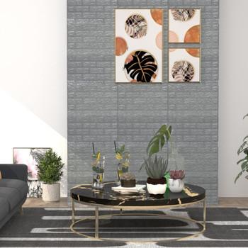 vidaXL 3D zidne tapete s uzorkom cigli samoljepljive 20 kom antracit