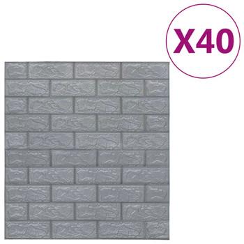 vidaXL 3D zidne tapete s uzorkom cigli samoljepljive 40 kom antracit