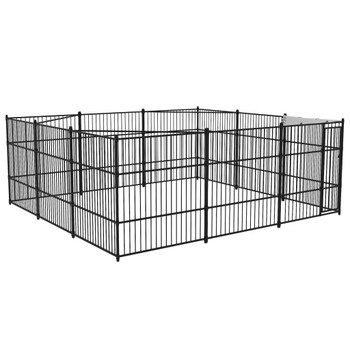 vidaXL Vanjski kavez za pse 5 x 5 x 2 cm