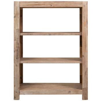 vidaXL Police za knjige s 3 razine od bagremovog drva 80 x 30 x 110 cm