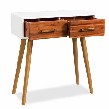 vidaXL Konzolni stol od masivnog bagremovog drva 70 x 30 x 75 cm