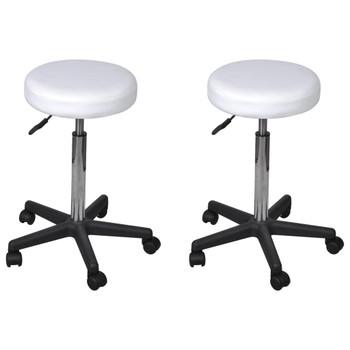 vidaXL Uredski stolci od umjetne kože 2 kom bijeli 35,5 x 98 cm