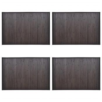 vidaXL Prostirke za kadu od bambusa 4 kom 40 x 50 cm tamnosmeđe