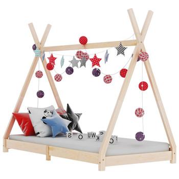 vidaXL Okvir za dječji krevet od masivne borovine 70 x 140 cm