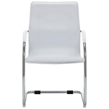 vidaXL Konzolna uredska stolica od umjetne kože bijela