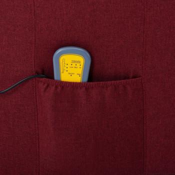 vidaXL Masažna fotelja od tkanine crvena boja vina