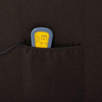vidaXL Masažna fotelja od tkanine tamnosmeđa