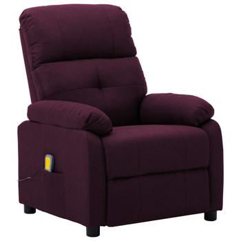 vidaXL Masažna fotelja od tkanine ljubičasta