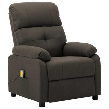 vidaXL Masažna fotelja od tkanine smeđe-siva