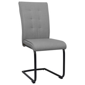 vidaXL Konzolne blagovaonske stolice od tkanine 4 kom svjetlosive