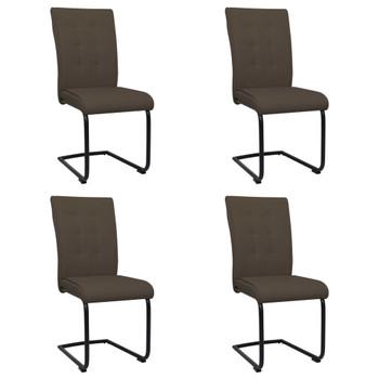vidaXL Konzolne blagovaonske stolice od tkanine 4 kom smeđe
