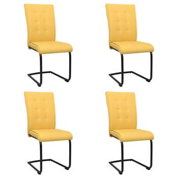 vidaXL Konzolne blagovaonske stolice od tkanine 4 kom boja senfa