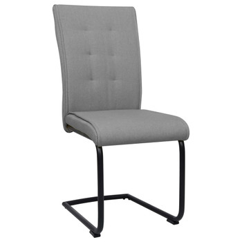 vidaXL Konzolne blagovaonske stolice od tkanine 6 kom svjetlosive