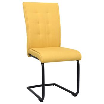 vidaXL Konzolne blagovaonske stolice od tkanine 6 kom boja senfa