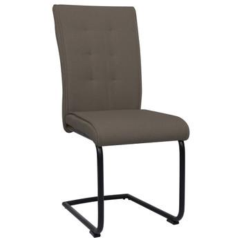 vidaXL Konzolne blagovaonske stolice od tkanine 6 kom smeđe-sive