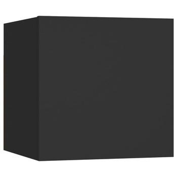 vidaXL Noćni ormarić crni 30,5 x 30 x 30 cm od iverice