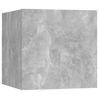 vidaXL Noćni ormarić siva boja betona 30,5 x 30 x 30 cm od iverice