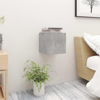 vidaXL Noćni ormarići 2 kom siva boja betona 30,5x30x30 cm od iverice