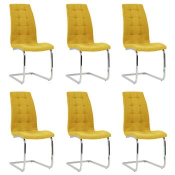 vidaXL Konzolne blagovaonske stolice od tkanine 6 kom žute