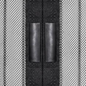vidaXL Zastori protiv insekata 2 kom s magnetima 200 x 80 cm crni