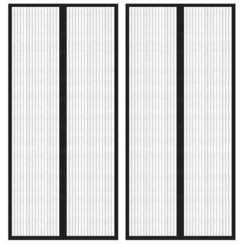 vidaXL Zastori protiv insekata 2 kom s magnetima 210 x 90 cm crni