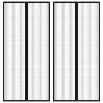 vidaXL Zastori protiv insekata 2 kom s magnetima 220 x 110 cm crni