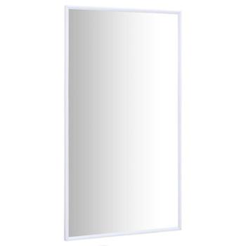 vidaXL Ogledalo bijelo 100 x 60 cm