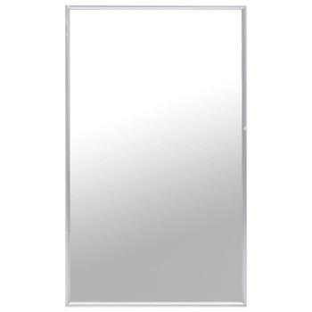 vidaXL Ogledalo srebrno 100 x 60 cm