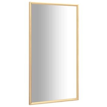 vidaXL Ogledalo zlatno 120 x 60 cm