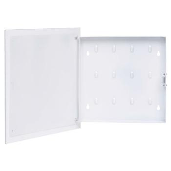 vidaXL Kutija za ključeve s magnetnom pločom bijela 35 x 35 x 5,5 cm