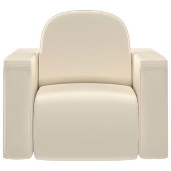 vidaXL 2-u-1 dječja sofa od umjetne kože bijela
