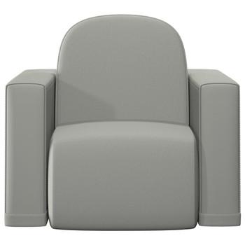 vidaXL 2-u-1 dječja sofa od umjetne kože siva