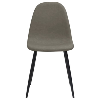vidaXL Blagovaonske stolice 2 kom 45x54,5x87 cm tamnosive umjetna koža