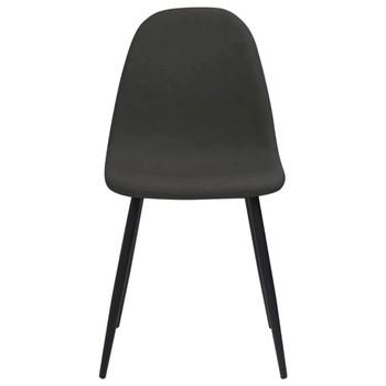 vidaXL Blagovaonske stolice 2 kom 45x54,5x87 cm crne od umjetne kože