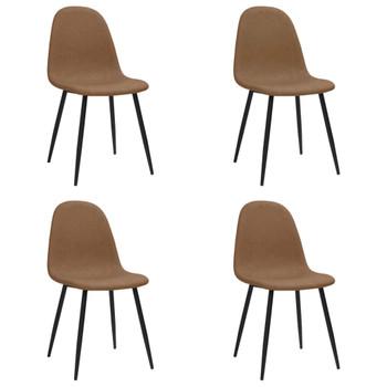 vidaXL Blagovaonske stolice 4 kom 45x54,5x87cm tamnosmeđe umjetna koža
