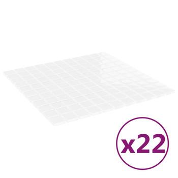 vidaXL Samoljepljive pločice s mozaikom 22 kom bijele 30x30 cm staklo