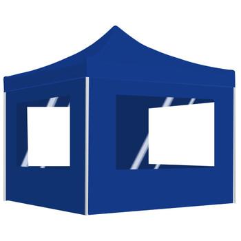 vidaXL Profesionalni sklopivi šator za zabave 3 x 3 m plavi
