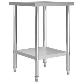 vidaXL Kuhinjski radni stol 60 x 60 x 85 cm od nehrđajućeg čelika