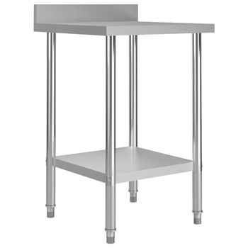 vidaXL Kuhinjski radni stol 60 x 60 x 93 cm od nehrđajućeg čelika