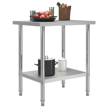 vidaXL Kuhinjski radni stol 80 x 60 x 85 cm od nehrđajućeg čelika