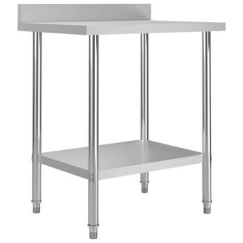 vidaXL Kuhinjski radni stol 80 x 60 x 93 cm od nehrđajućeg čelika
