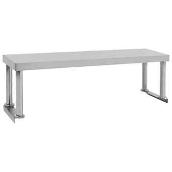 vidaXL Polica za radni stol 120 x 30 x 35 cm od nehrđajućeg čelika